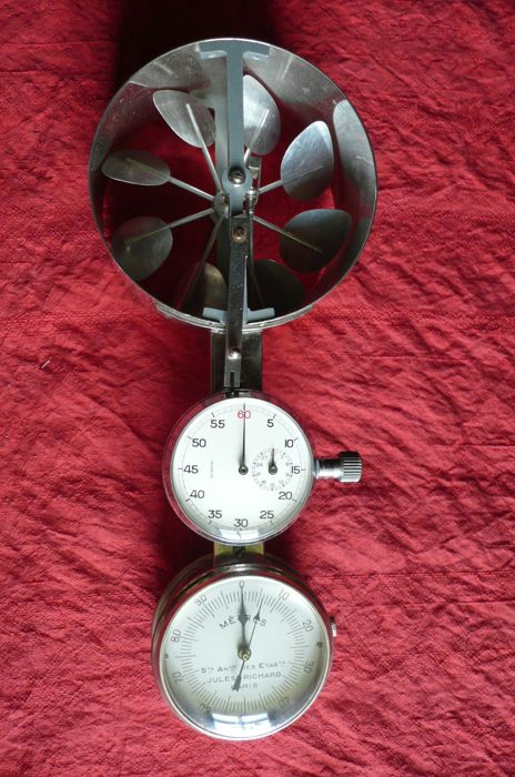 Chromed metal - anemometer - Jules Richard Paris - early 20th.
