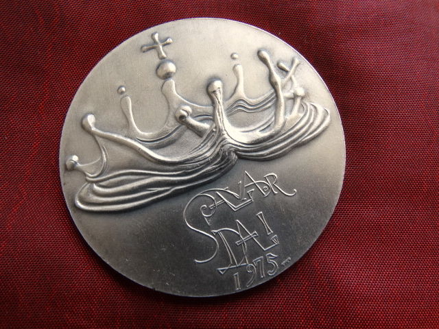 Spain - Medal Signed by Salvador Dali, very rare, solid silver, 1975