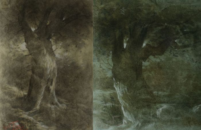 Carlos Augusto Lyster Franco (1879-1959) - Two Tortured Trees