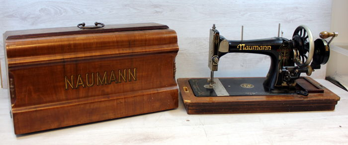 Naumann sewing machine in wooden case, Germany, first half of the 20th century