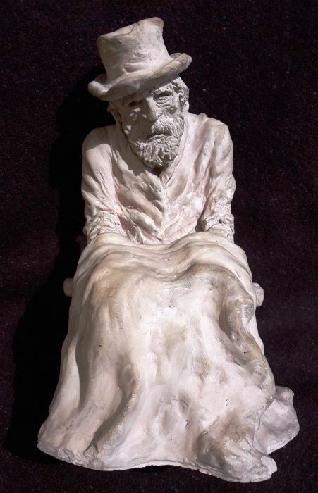 "Terracotta ""' La Taupe"", the old man, France, 20th century"