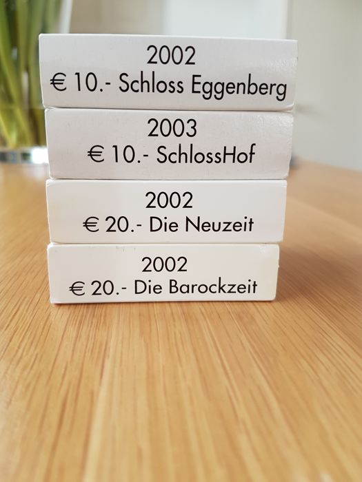 Austria - Lot of 4 commemorative coins (€10+€20)