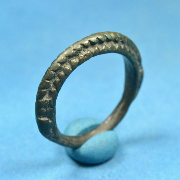 Migration Period Pannonian Hunnic Warrior's Bronze Ring Spine Decoration