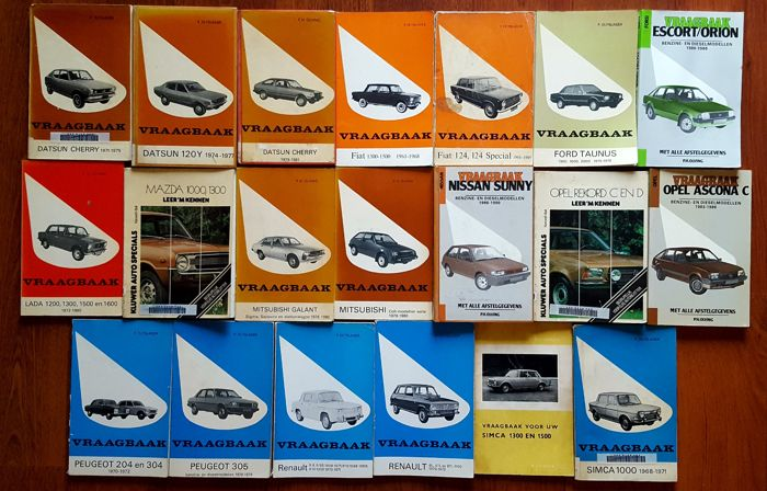 Lot of 20 Q and A booklets varying from Datsun to Simca