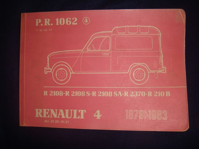 Rare Catalogue of RENAULT R4