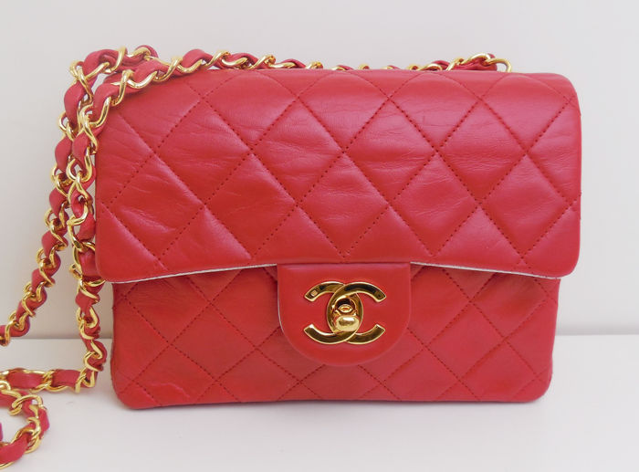 Chanel - small single flap single chain Shoulder bag - Vintage
