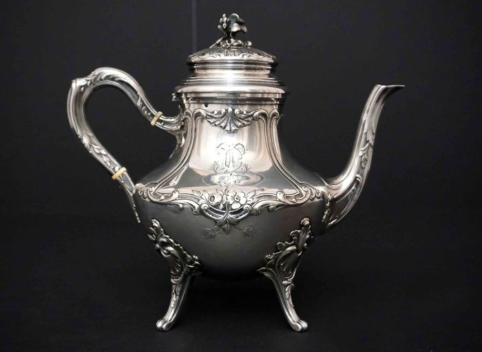 Sterling Silver Tea Pot - Louis Coignet - France 1889-1893