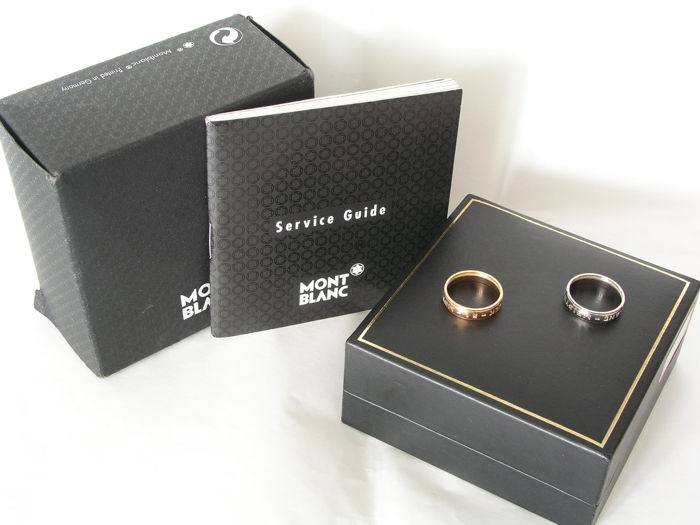 Montblanc extra gold rings for wedding pen.