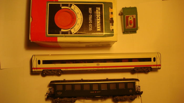 Fleischmann H0 - uit 4460/5135/6735 - Attachments, Passenger carriage - MSF-Trafo, ICE wagon and more - DB, SBB-CFF