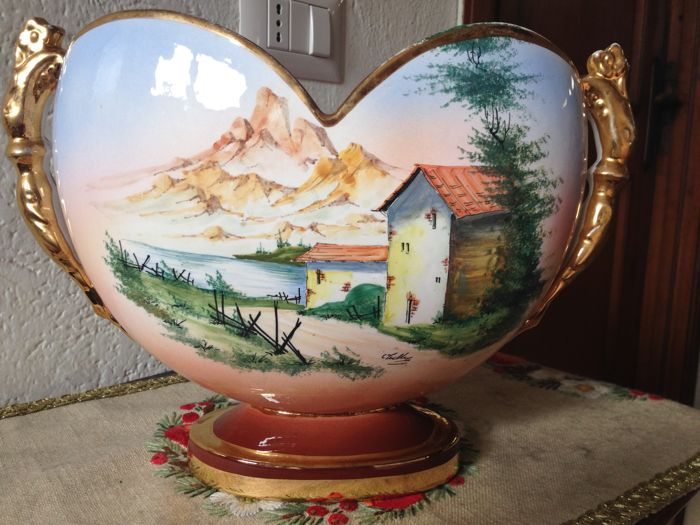 Ceramic Amphora with Alpine Landscape