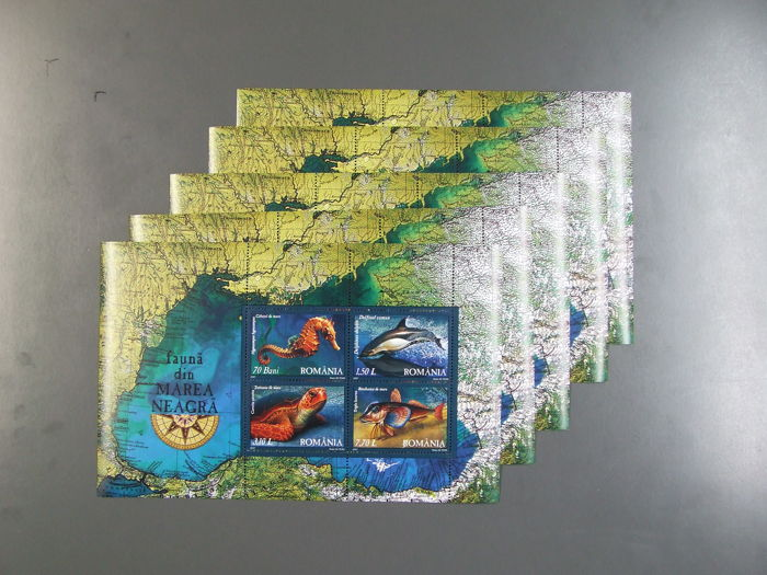 Romania - collection of 5 x 51 different blocks and small sheets (255 pieces)