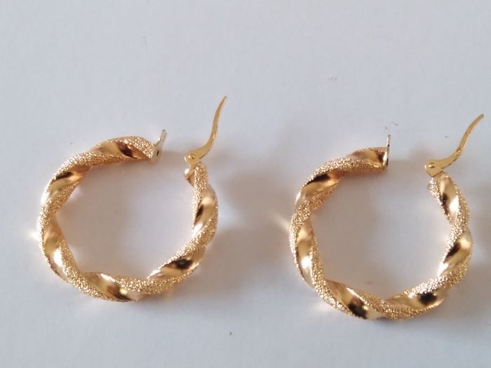Hoop earrings in 18 kt gold