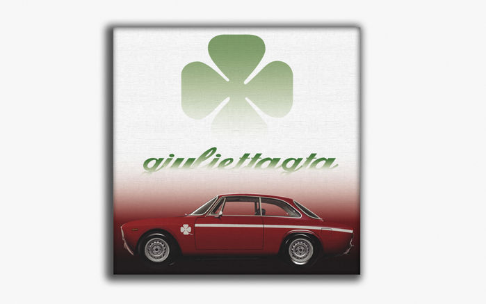 SLQ-Wall paint on Plastic Canvas - Alfa Romeo Giulietta GTA