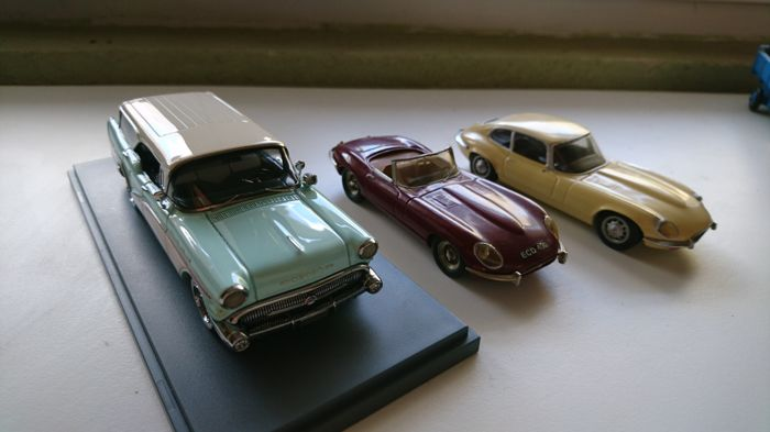 Neo / Tenariv - Scale 1/43 - Lot of 3 cars:  2 x Jaguar Type E and 1  Buick  caballero scale 1/43