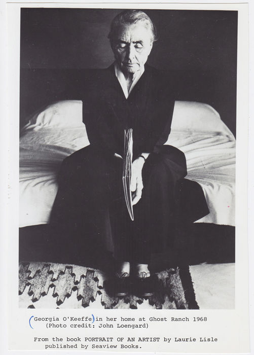 John Loengard (1934-) - Georgia O'Keeffe in her home at Ghost Ranch, 1968
