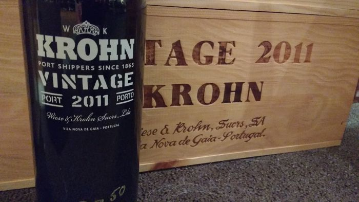 2011 Vintage Port - Krohn – 6 bottles in OWC