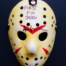 "Ari Lehman ( Jason ) - Authentic Signed  ""Friday 13th""  Mask - With Certificate of Authenticity PSA/DNA"