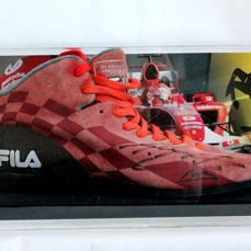 Original Fila training shoe signed by Michael Schumacher with a JSA LOA