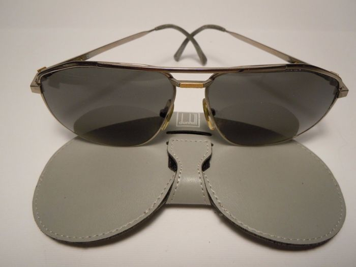 DUNHILL 6096 80's Sunglasses Titanium and Gold 18K - 6096 Sunglasses - Vintage