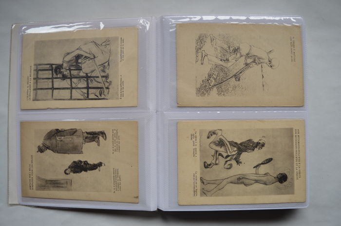 Italy, Europe - 1917 - 64 postcards illustrated by LOUIS RAEMAEKERS