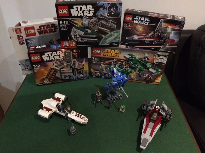 Star Wars - 75091 + 75137 + 75168 (New) and 6205 + 8085 + 75002 (Used)