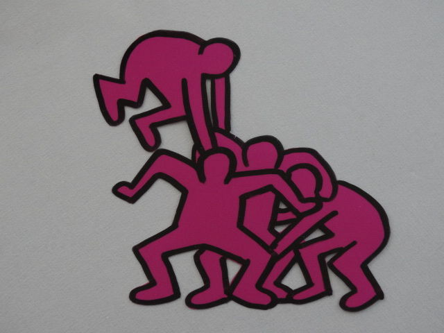 Keith Haring  - Telephone 1991 animation cel