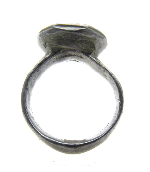 Medieval Crusaders Holy Land Bronze Ring with Star of Bethlehem on Bezel - 20 mm