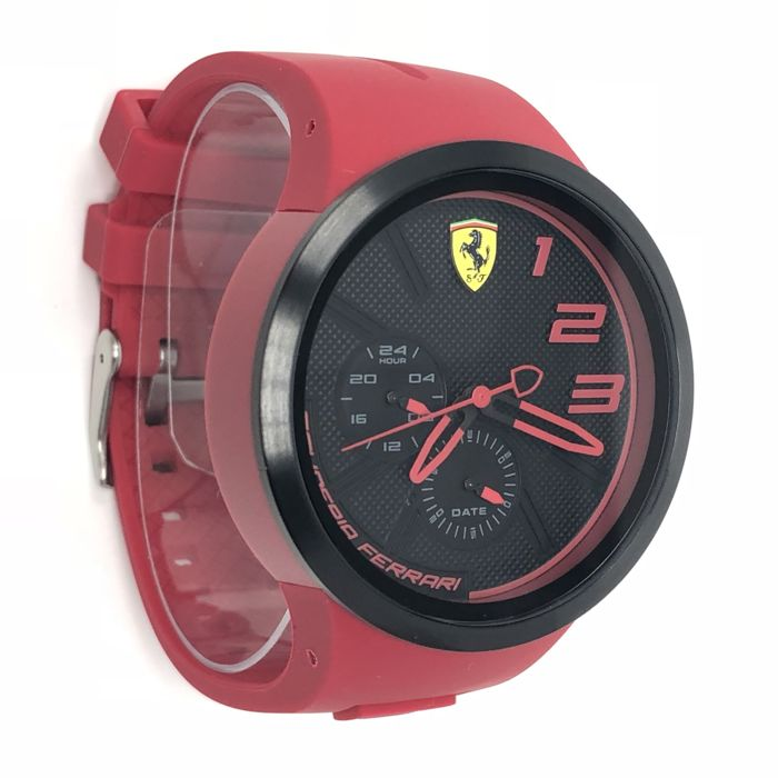 Ferrari - Scuderia FXX Black and Red Silicone Strap - 0830396 - Heren - NEW