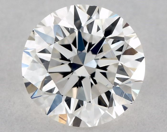 GIA certified and engraved round diamond of 0.30 ct, colour G, purity SI1