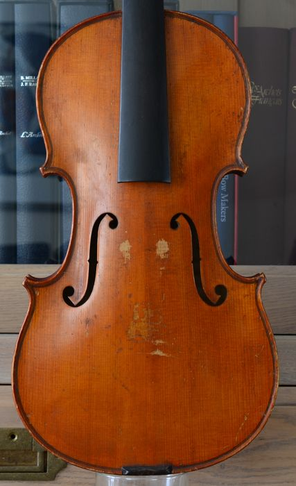 H.C Silvestre violin labelled with stamp inside Mint condition