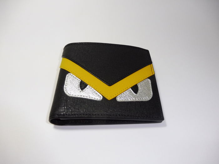 Fendi - Monster Eyes Leather Wallet  - *No Minimum Price*