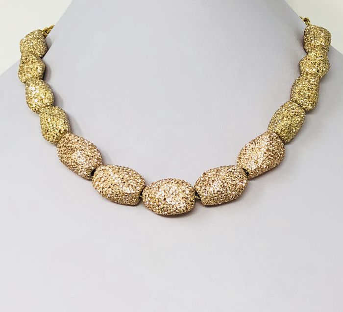 7d44153d460d6 Swarovski Atelier Regent Necklace Gold and Rose Gold Swarovski Crystal  Beads - Catawiki