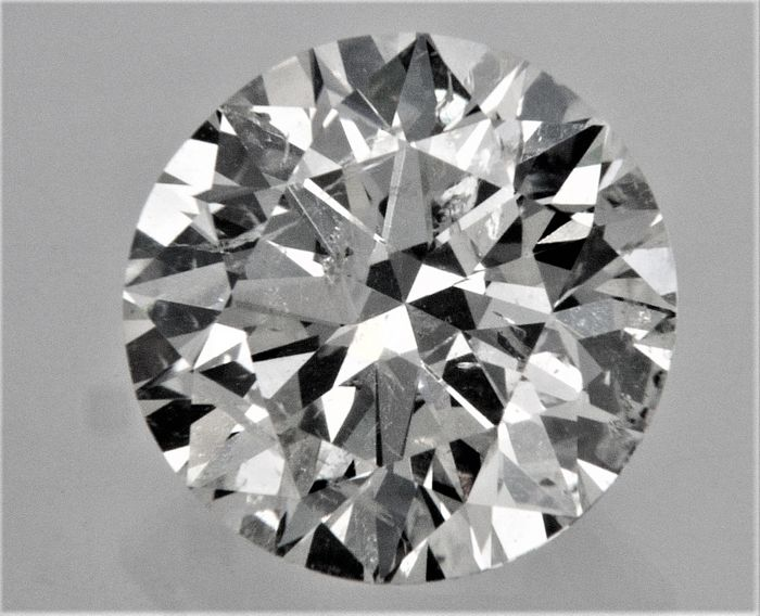 Round Brilliant Cut  - 1.23 carat - F color - SI2 - clarity - 3 x EX  - AIG Big Certificate + Laser Inscription On Girdle, UNTREATED.
