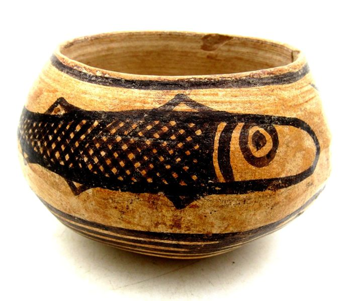 Rare, fantastic Indus Valley vessel (perfect conservation). Diameter: 115 mm. Height: 66 mm. Weight: 264 g