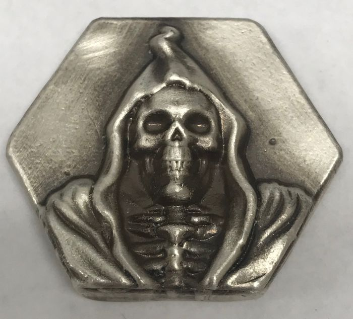 DEATH 4 oz Beaver bullion pure silver limited to 100 pieces