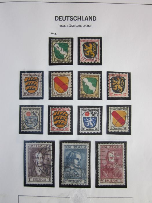 Germany French zone, a collection