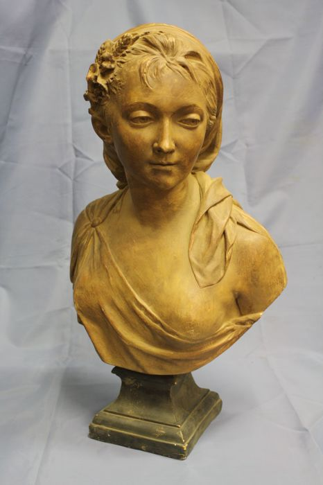 Coated Terracotta Bust - French School - 19th century