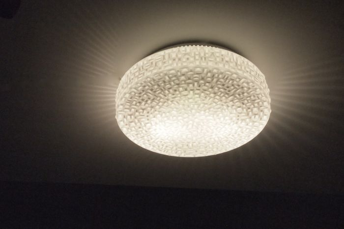 Louis Kalff for Philips - large glass ceiling light