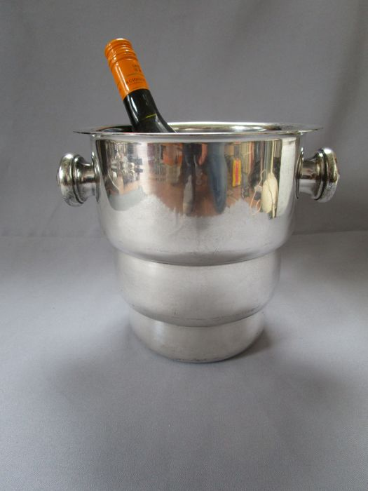 BELMET S.Woolman Belgium - Art Deco champagne cooler - silver plated - 1st half of the 20th century