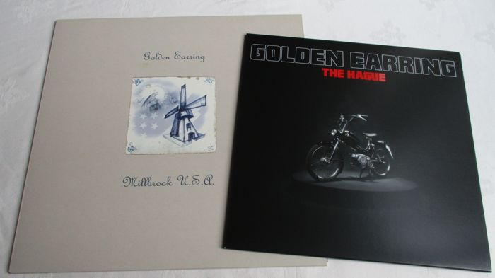 A lot of 2 lp's from the Golden Earring / Millbrook USA and Golden Earring The Haque  a 10inch lp on colored vinyl (red )