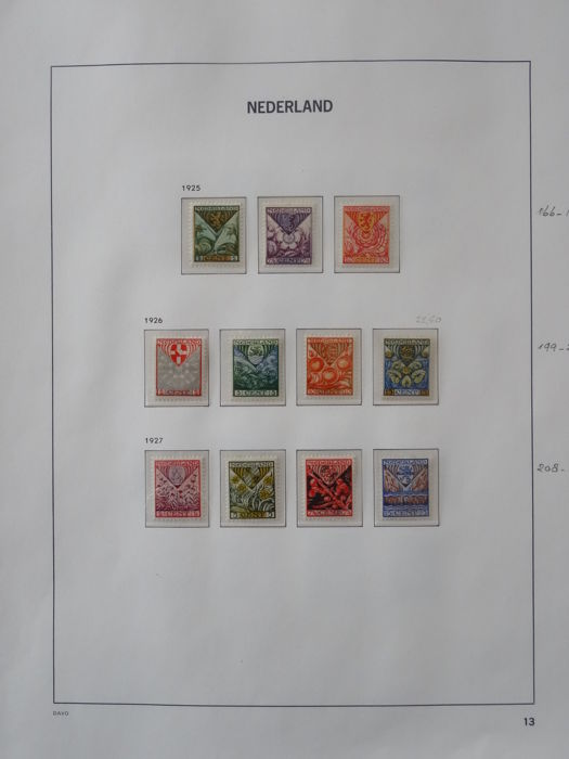 The Netherlands 1925/1931 - Selection on album sheets