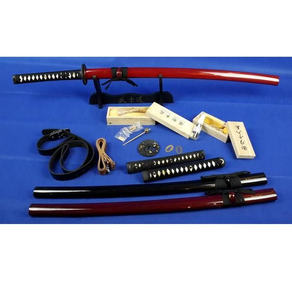 Sharp Japanese samurai sword complete with very many accessories