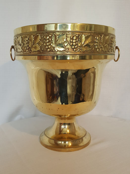 Monumental Beldray English brass wine cooler; marked - second half of the 20th century