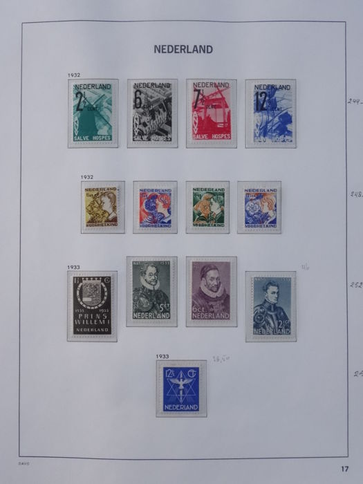 The Netherlands 1932/1940 - Selection on album sheets
