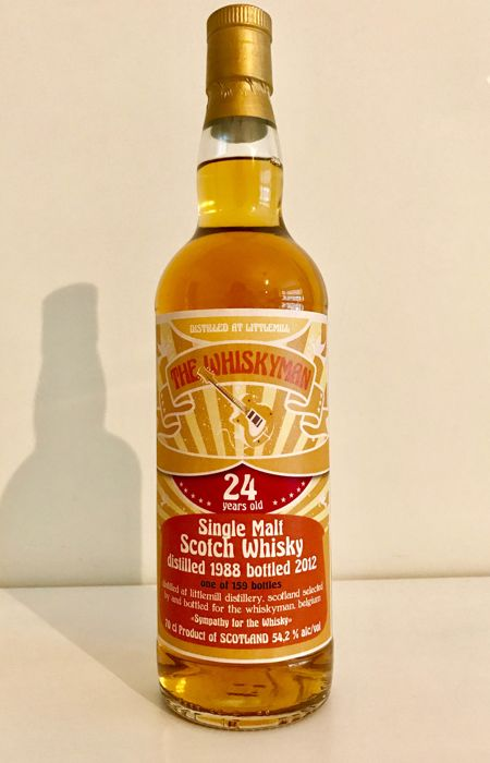 Littlemill 1988 The Whiskyman, 28 years old, Bottling serie: sympathy for the whisky. Only 159 bottles!