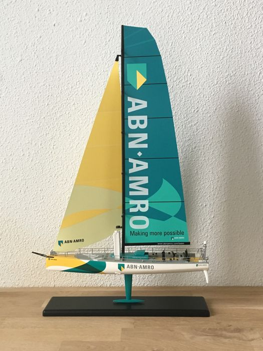 Scale model ABN AMRO number TWO sailboat, Volvo Ocean Race 2005 - 2006