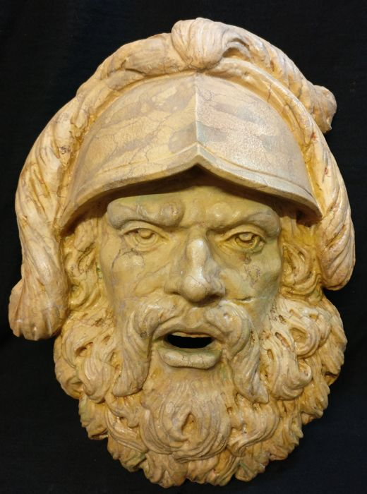 Fountain mouth in Nembro Tabacon marble, carved and worked by hand - Italy, Abano Terme - 20th/21st century