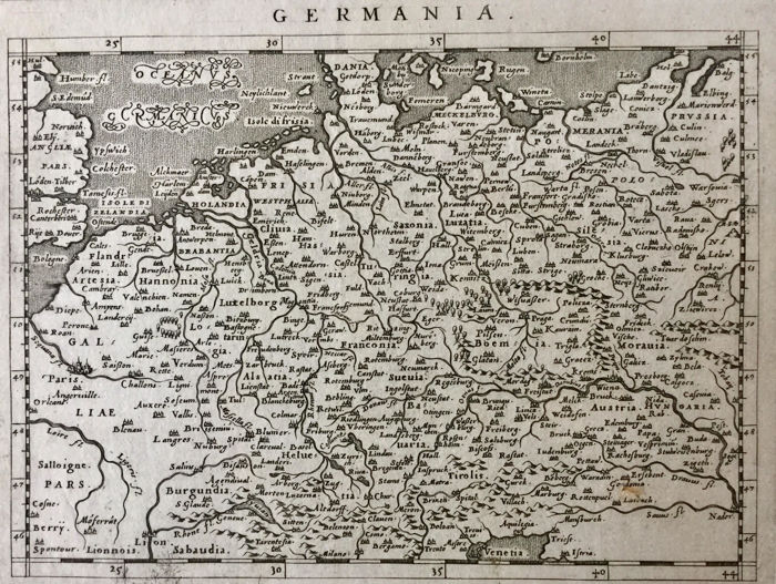 Germany, Central Europe; G. Magini - Germania - 1597