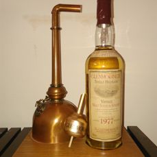 Glenmorangie vintage 1977 - miniature still on plint - OB