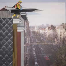 Street art veiling (The Crystal Expo: Andromeda is not far away)